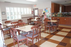 Image of shared shelter dining area