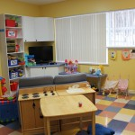 Image of children's activity area in shelter