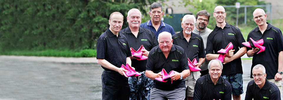 MENtors Committee with pink shoes
