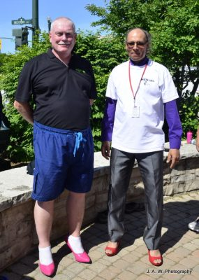 Peter Renshaw (MENtors Chair) & Gil Sipkema (Aboriginal Day organizer)