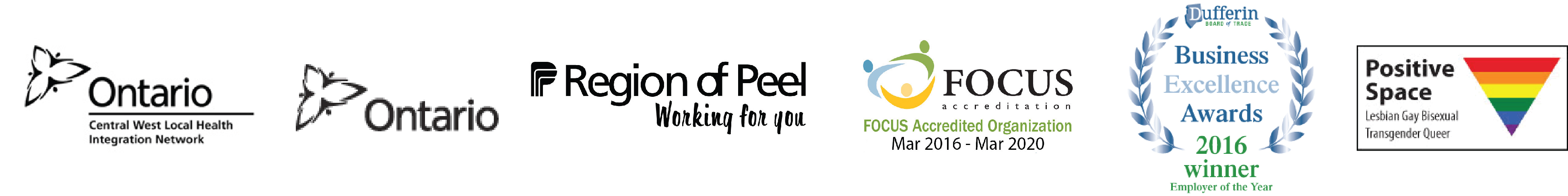 Funding Sponsors Region of Peel, Ontario West Local Health Integration Network, Province of Ontario, Focus Accreditation Organization