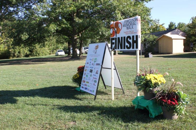 Photo of the finish line at the 2016 Ferguson Memorial Walk
