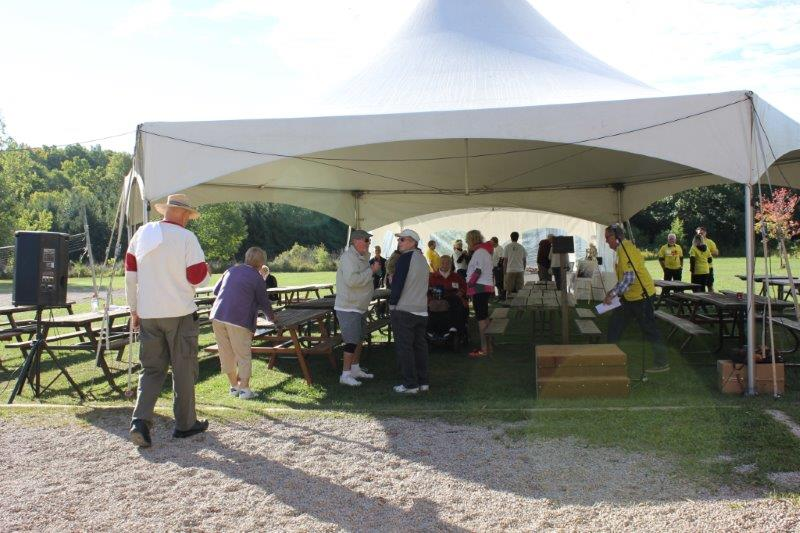 Photo of event tent at the 2016 Ferguson Memorial Walk