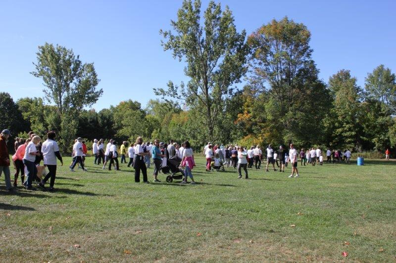 Event participants starting their walk