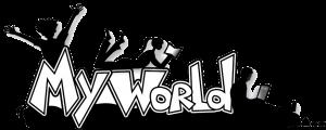 My World logo bw