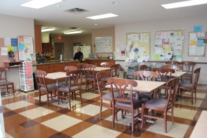 Image of shelter kitchen and dining area