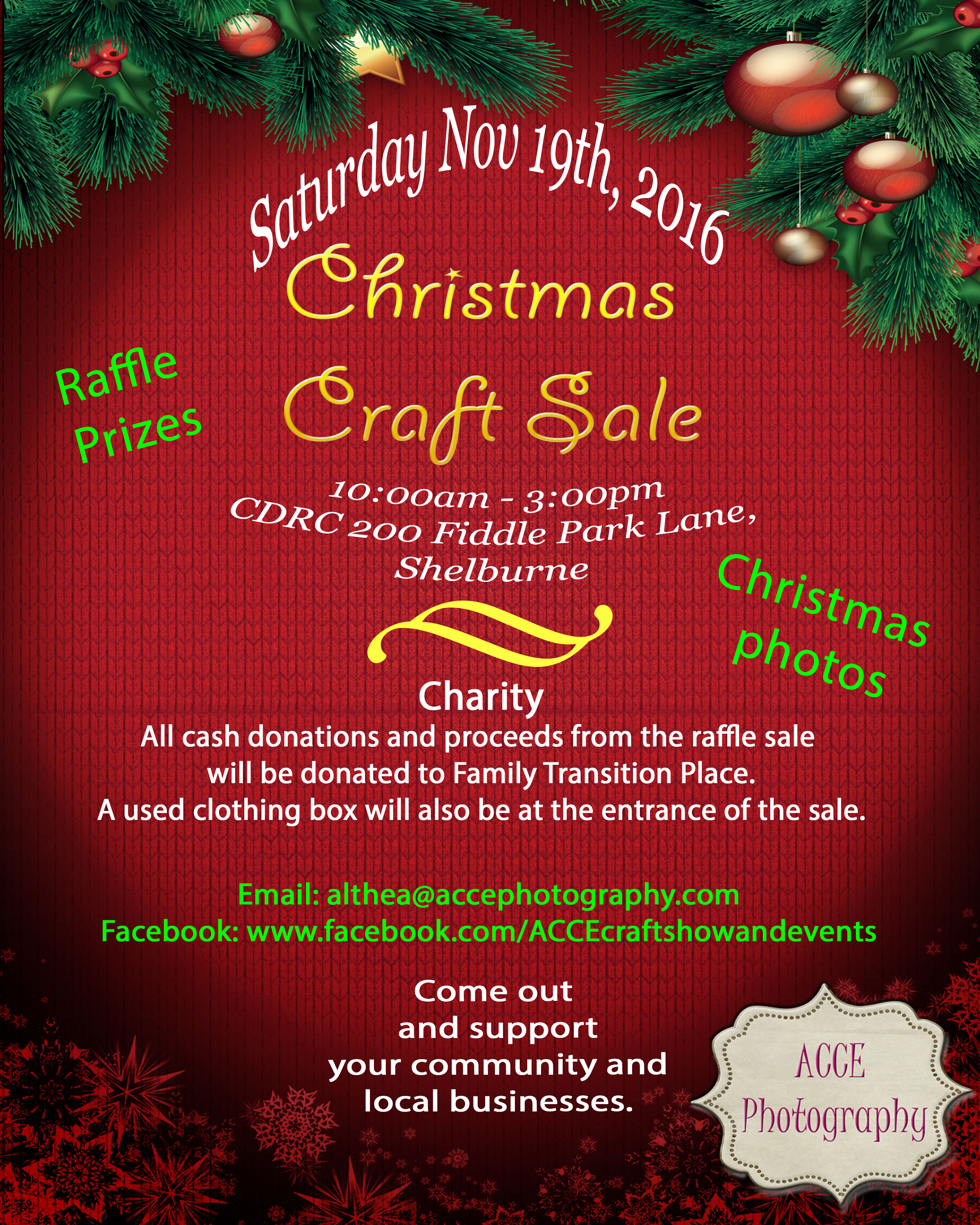 Christmas Craft Sale Flyer Family Transition Place