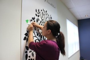Accreditation tree and Laura Moscatiello