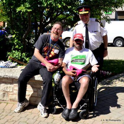 James Jackson (MENtors volunteer), Chief Kalinski and event supporter