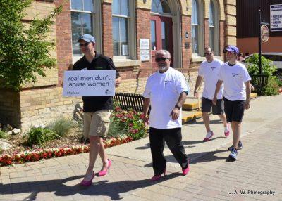 Event participants walking