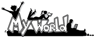 My World logo bw