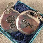HOPE charm keychain