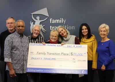 FMW Walk cheque presentation