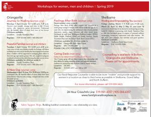 Spring 2019 workshop flyer thumbnail