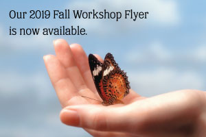 Our 2019 Fall Workshop Flyer