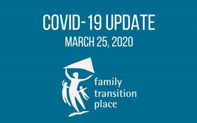 COVID-19 Update – March 25, 2020