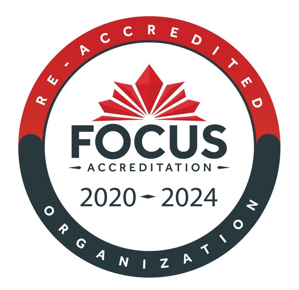 FOCUS Accreditation emblem 2020-2024