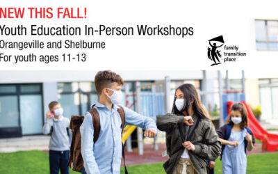 Fall In-Person Youth Education Workshop – Self-Esteem