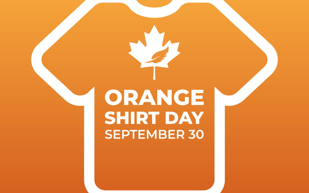 T shirt outline on orange background Orange Shirt Day September 30